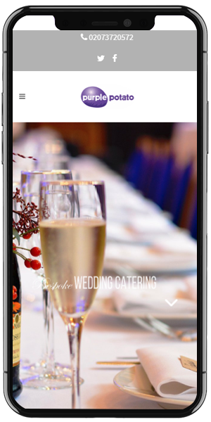 Catering Web Design mobile
