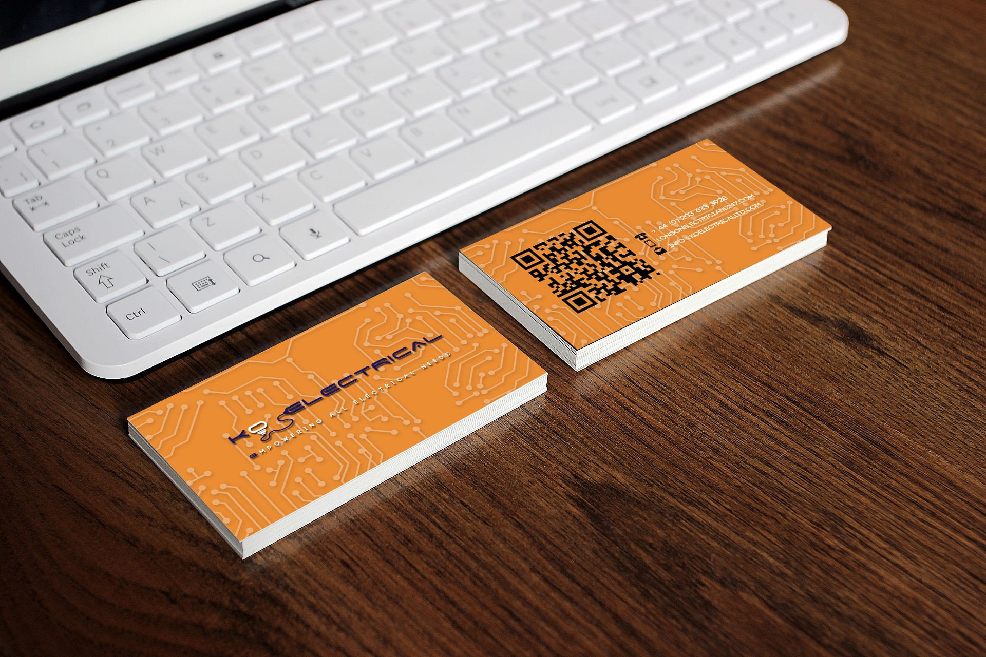 Electrician Business Card Design
