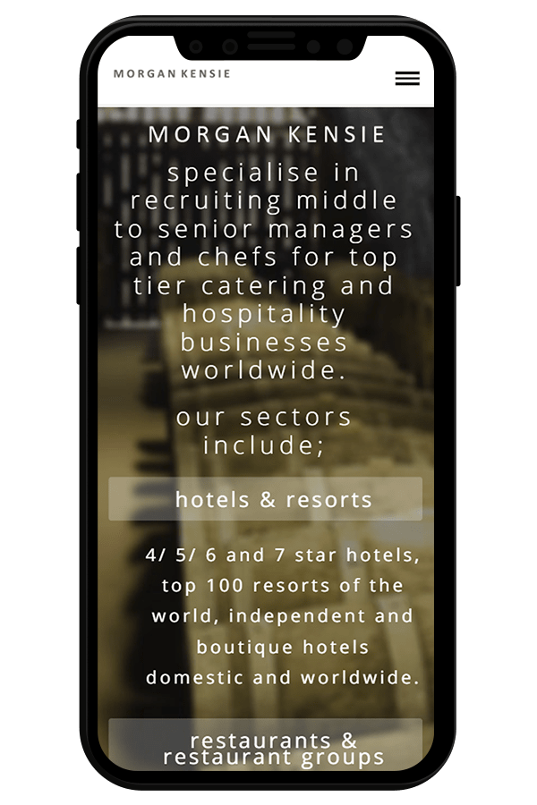 Hospitality Recruitment Web Design