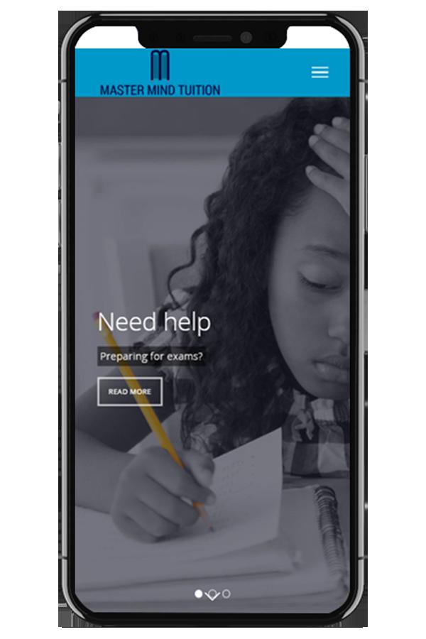 Private Tuition Web Design mobile