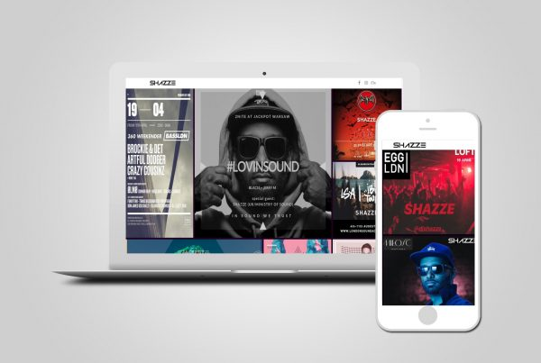 DJ website design Video